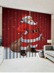 Father Christmas Pattern Window Curtains -
