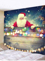 Christmas Santa Claus Light Print Tapestry Wall Hanging Art Decoration -