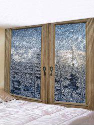 Window Snow Forest Pattern Tapestry -