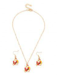 Christmas Santa Claus Chain Necklace and Hook Earrings -