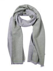 Faux Cashmere Double-sided Two Tone Scarf -