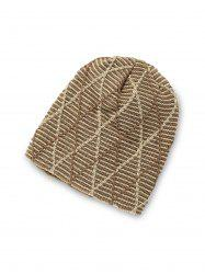 Rhombus Pattern Knitted Casual Beanie -