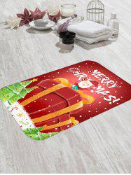 Father Christmas Gift Pattern Floor Rug -