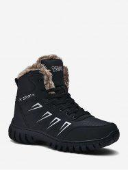 Non Slip Faux Leather Snow Ankle Boots -