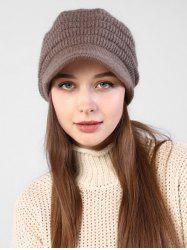 Knitted Winter Soft Beret Peaked Hat -
