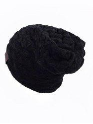 Solid Color Design Knitted Beanie -