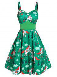 Christmas Unicorn Print Button Cami Mini Dress -