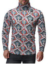 Ethnic Paisley Pattern Long Sleeves T-shirt -