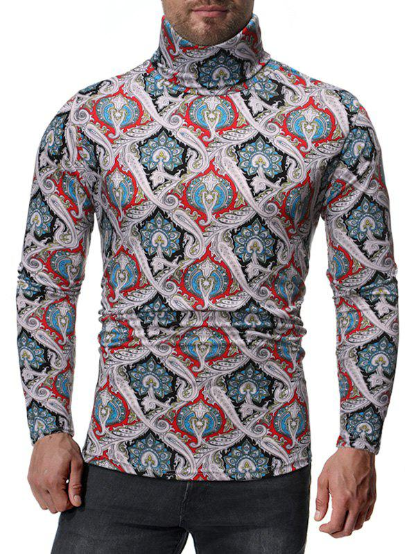 Fancy Ethnic Paisley Pattern Long Sleeves T-shirt