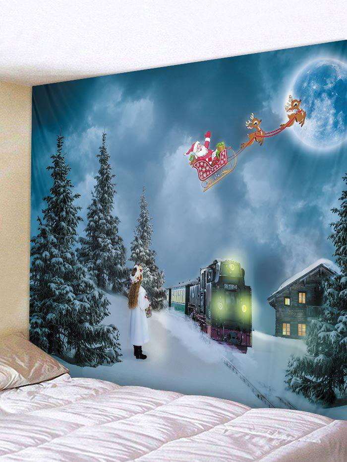 Affordable Santa Claus Snow Pattern Tapestry