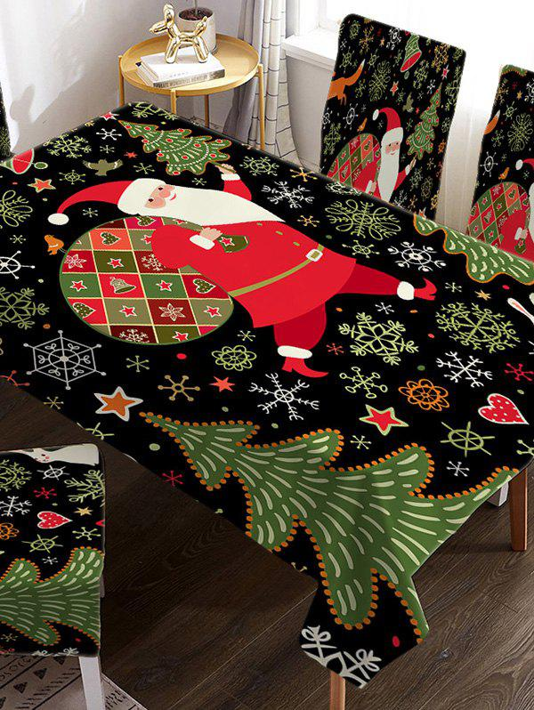 Cheap Father Christmas Tree Fabric Waterproof Table Cloth
