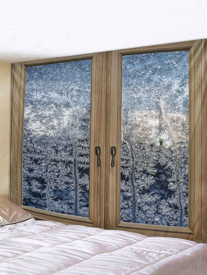 Best Window Snow Forest Pattern Tapestry