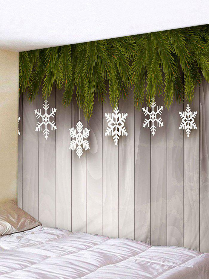 Cheap Christmas Snowflake Wooden Board Print Tapestry Wall Hanging Art Decoration