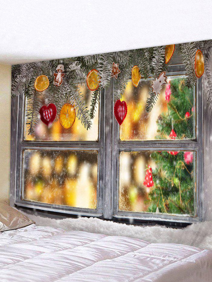 Hot Christmas Decorations Window Print Tapestry Wall Hanging Art Decoration