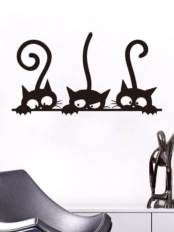 Affordable Cats Pattern Wall Sticker Set