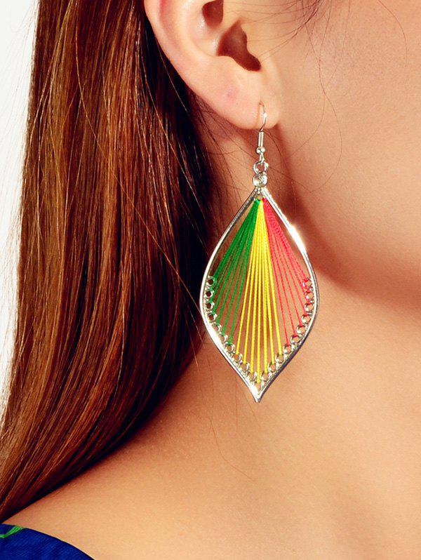 Outfit Thread Leaf Design Hook Earrings