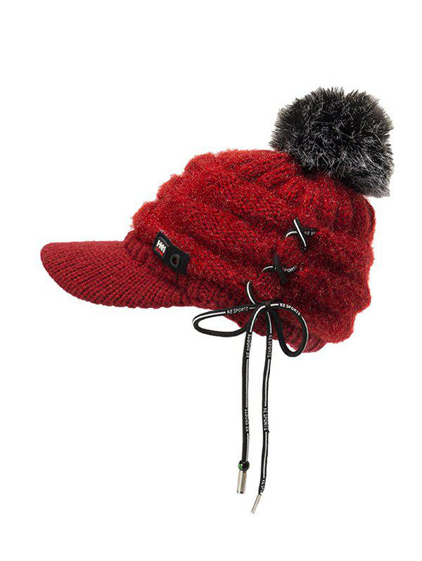 Latest Furry Fuzzy Ball Knitted Winter Hat