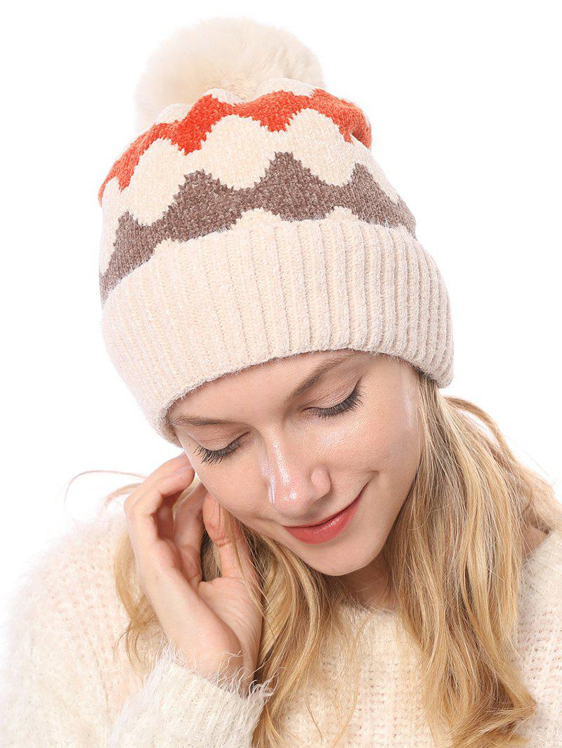 New Fleece Knitted Striped Hat