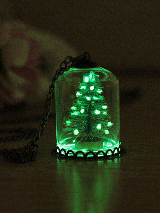 Outfit Luminous Glass Christmas Tree Snowflake Pendant Necklace