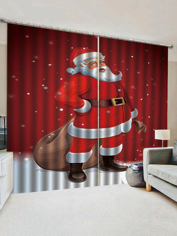 Cheap Father Christmas Pattern Window Curtains