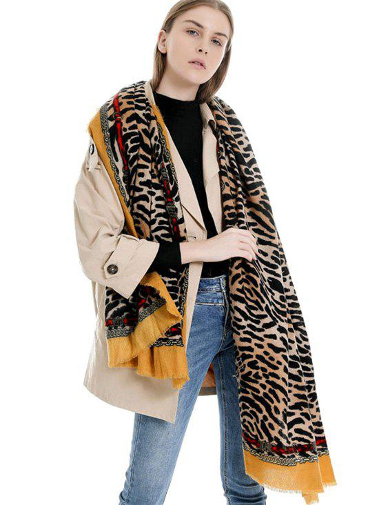 Outfits Winter Tiger Chain Print Long Scarf