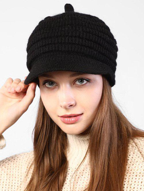Outfit Knitted Winter Soft Beret Peaked Hat