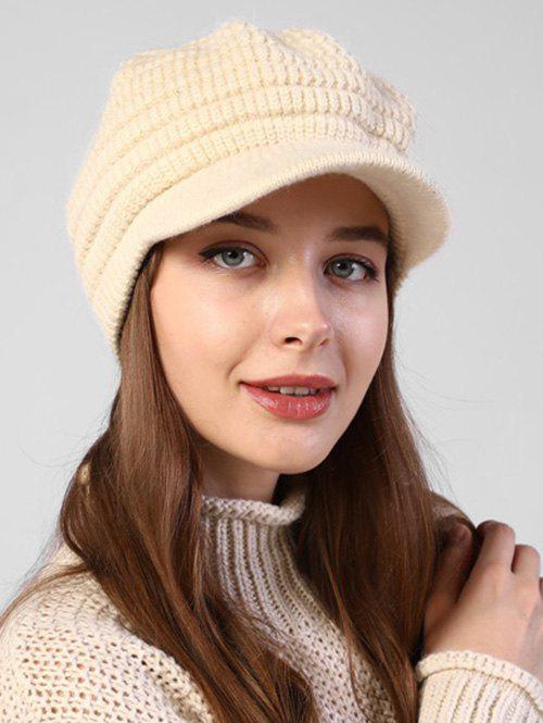 Discount Knitted Winter Soft Beret Peaked Hat