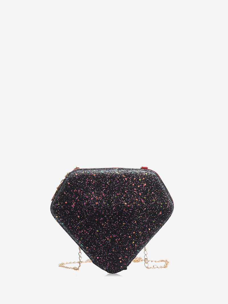 Fashion Diamond Shape Paillette Shoulder Bag