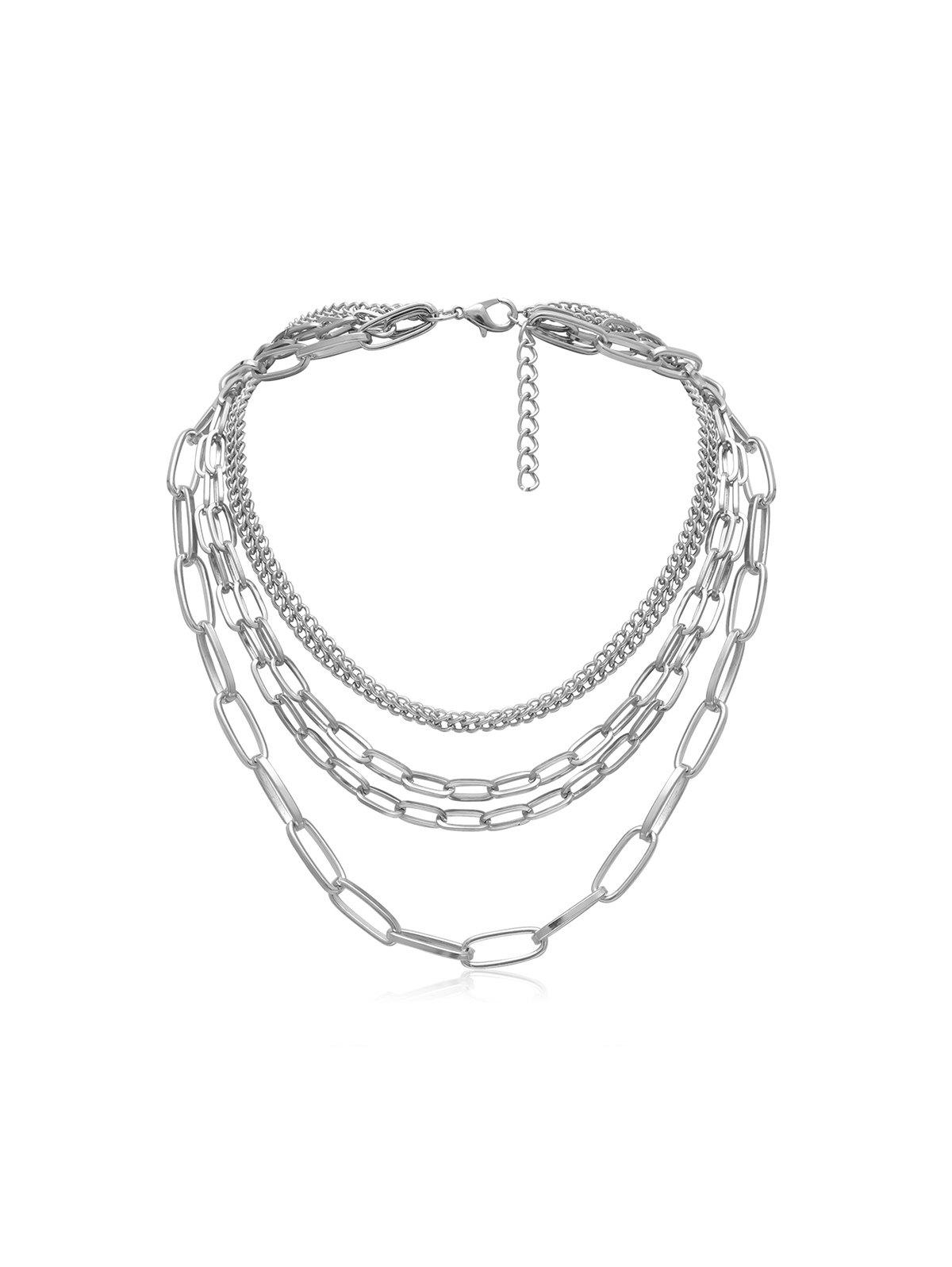 Outfits Brief Multilayered Link Chain Necklace