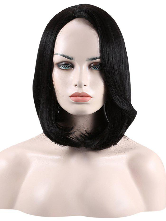 Buy Short Tail Adduction Straight Bob Side Part Synthetic Wig
