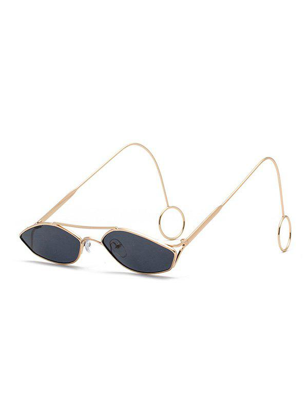 Store Unisex Metal Narrow Irregular Hollow Sunglasses