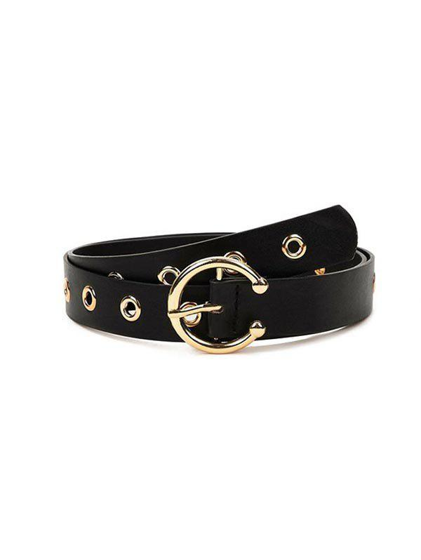 Outfit Solid Color Hollow Out Design Belt