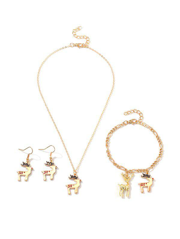 Shops Christmas Pendant Elk Jewelry Suit