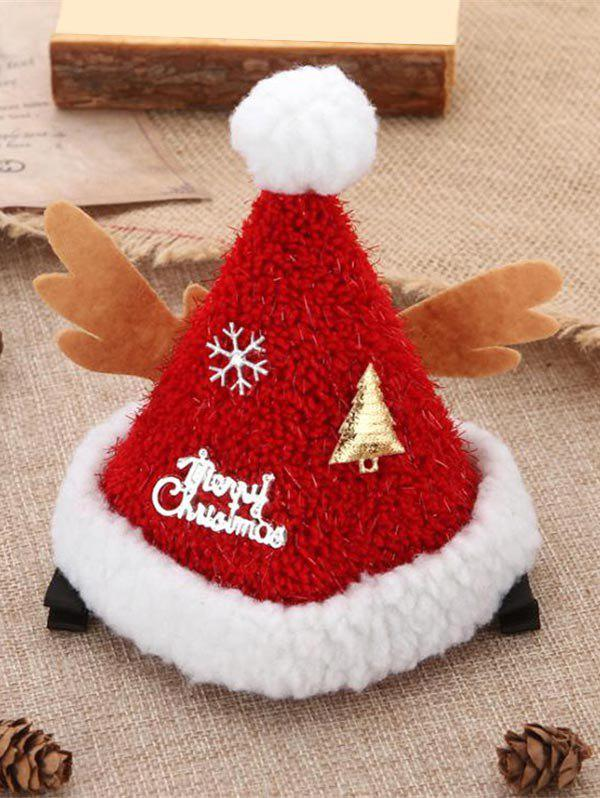 Cheap Christmas Accessories Tree Snowflake Letter Print Christmas Hat