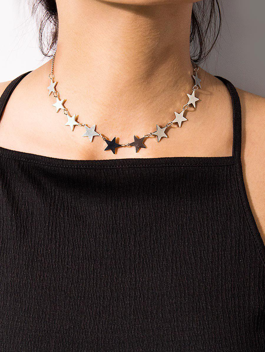 Online Brief Stars Clavicle Chain Necklace
