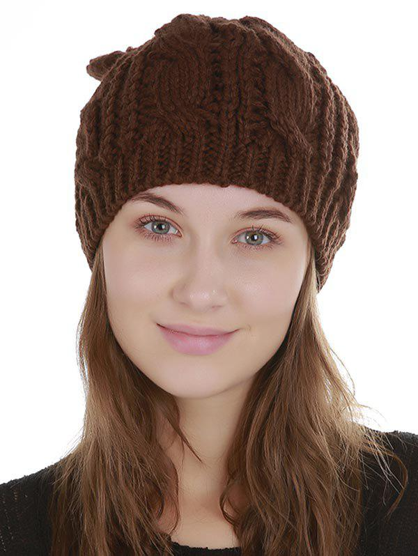 Best Solid Color Decoration Knitted Beanie