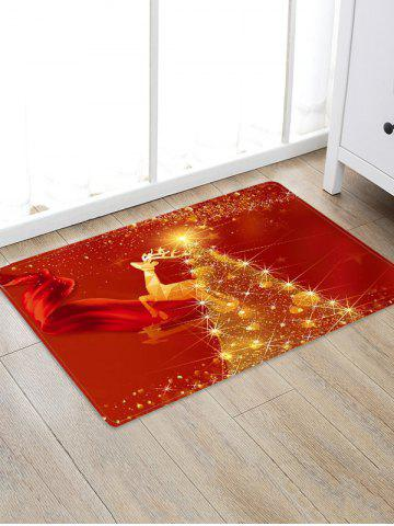 Christmas Tree Deer Pattern Floor Rug