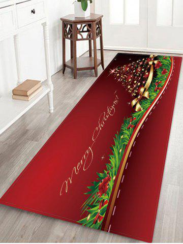 Christmas Star Tree Bowknot Pattern Water Absorption Area Rug