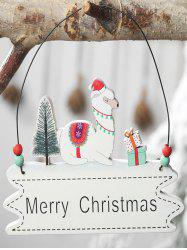 Merry Christmas Tree Sheep Hanging Decoration -