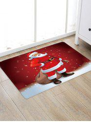 Father Christmas Pattern Floor Rug -