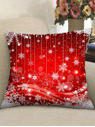 Christmas Print Throw Pillow Case -