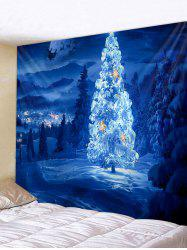 Christmas Tree Forest Printed Tapestry Wall Hanging Art Decoration -