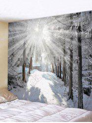 Sunshine Snow Forest Printed Tapestry Wall Hanging Art Decoration -