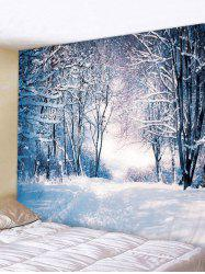 Christmas Snow Forest 3D Print Wall Tapestry -