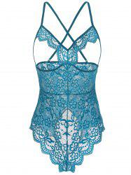 Floral Lace Open Cup Cut Out Teddy -