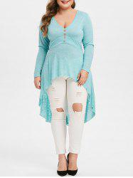 Plus Size High Low Plunge T Shirt -