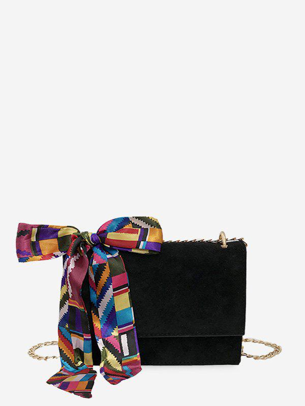 New Ribbon Decorated Square Chain Shoulder Bag
