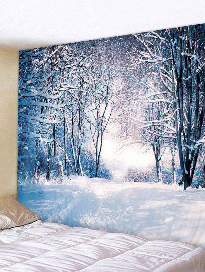Best Christmas Snow Forest 3D Print Wall Tapestry