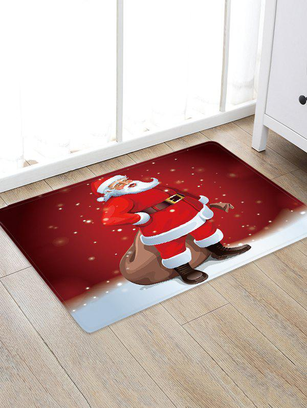 Fancy Father Christmas Pattern Floor Rug