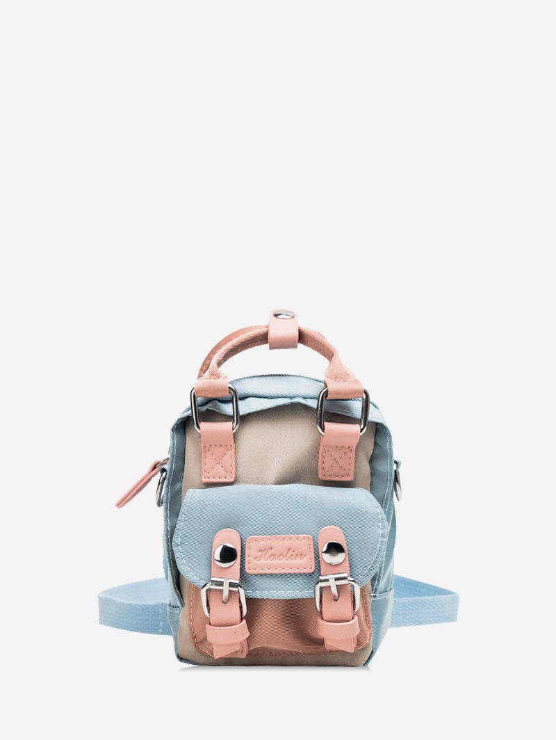 Latest Solid Color Buckle Decoration Casual Backpack
